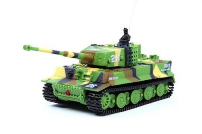 Танк Great Wall Toys Tiger 1:72 со звуком 2.4GHz (2117-1) Хаки зеленый