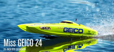 Катамаран PRO Boat USA Miss Geico 24 2.4GHz (RTR Version) PRB0500