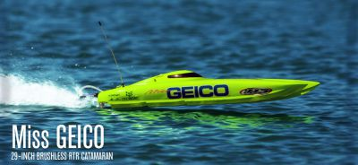 Катамаран PRO Boat USA Miss Geico 29 BL V2 2.4GHz (RTR Version) PRB4100B